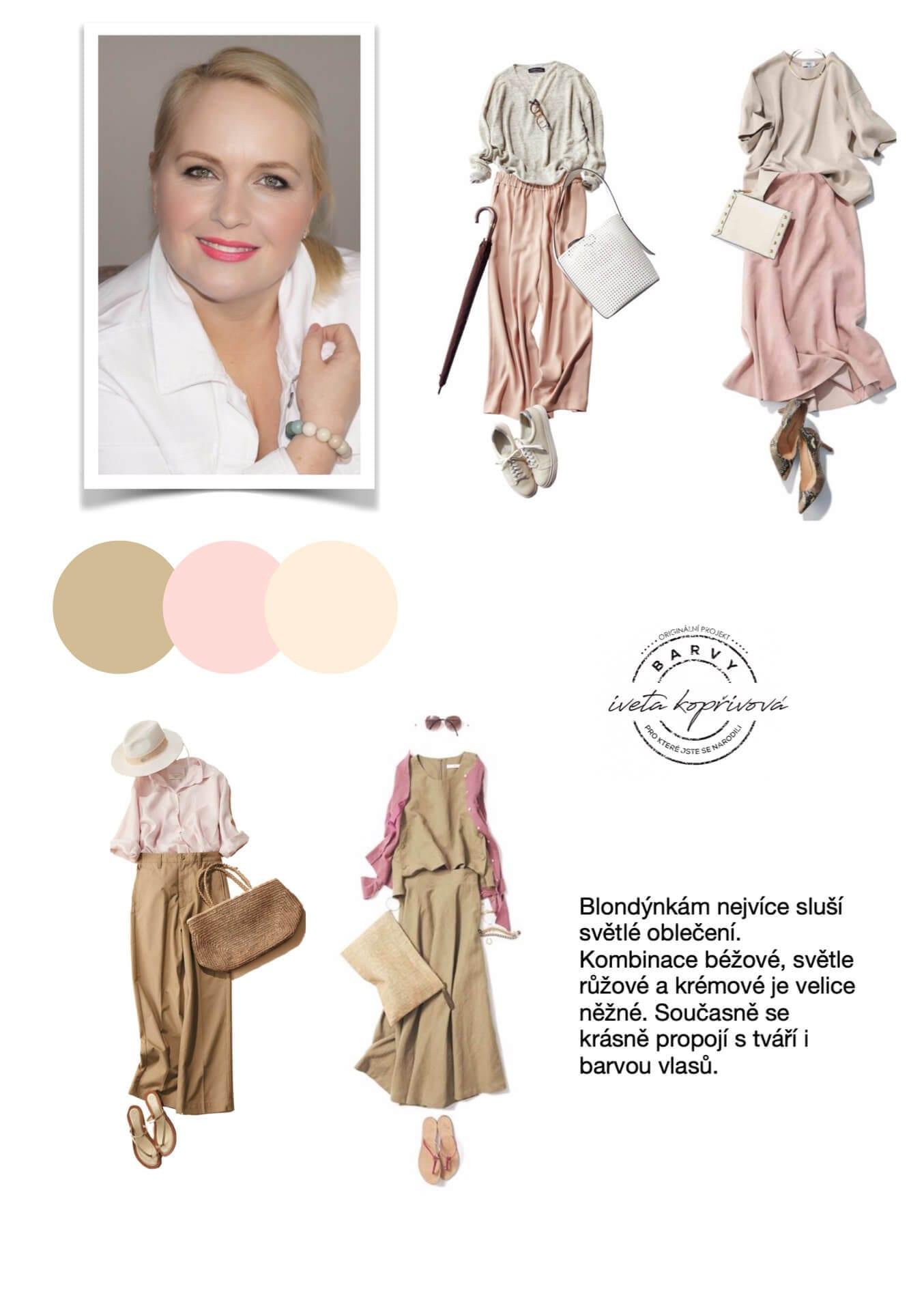 kombinace barev pro blondyny