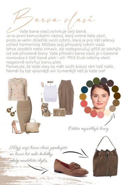 barva vlasu kombinace pro boty a kabelky