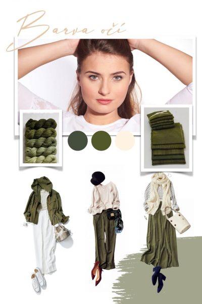 barva oci zelena kombinace